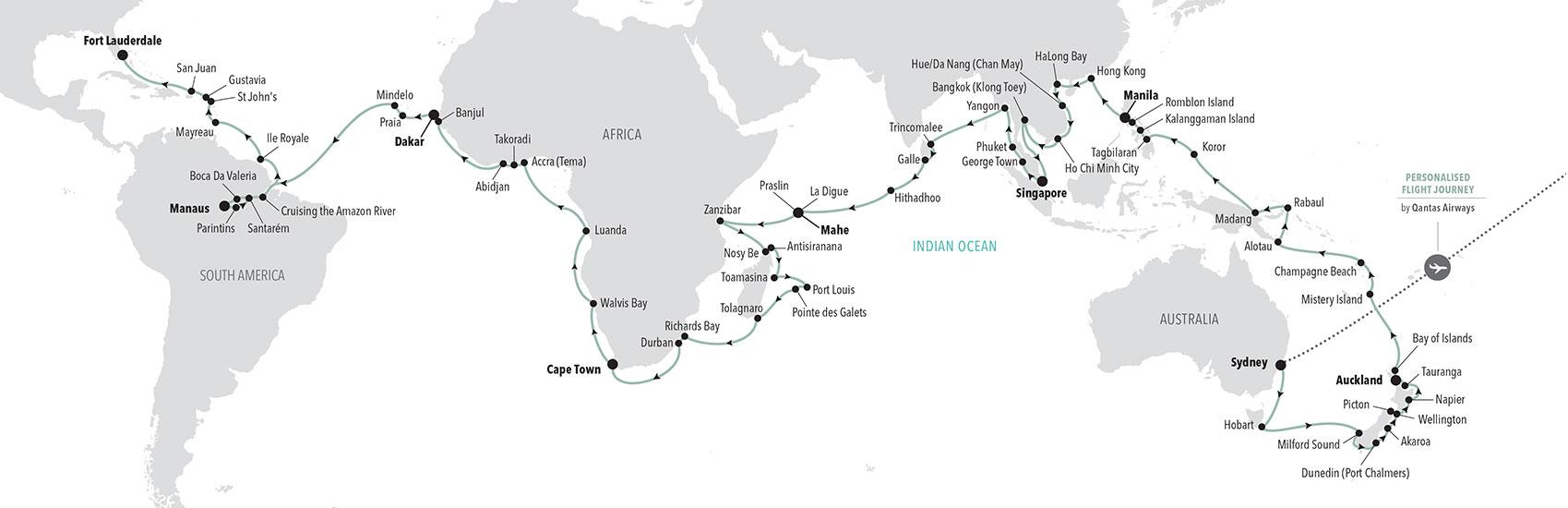 Silversea 2023 World Cruise 1